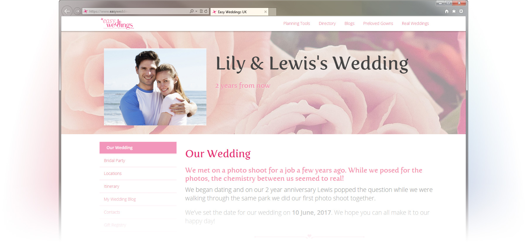 easy-weddings-tool-website-screen