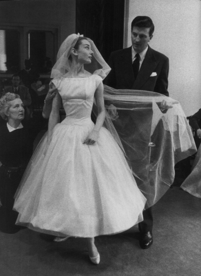 Audrey Hepburn in Funny face vintage wedding dress