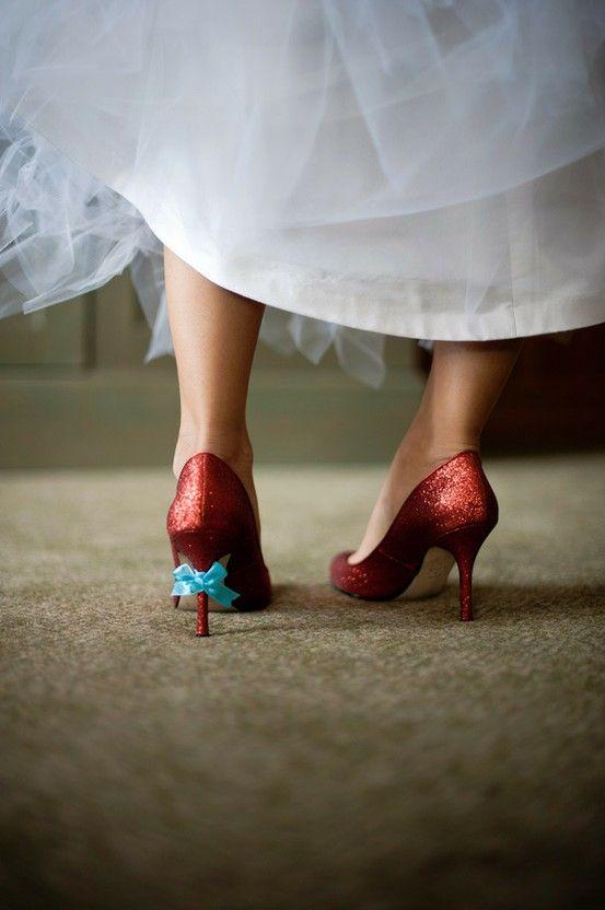 Something Blue Wedding Ideas - Blue Ribbon on Shoe - Cover