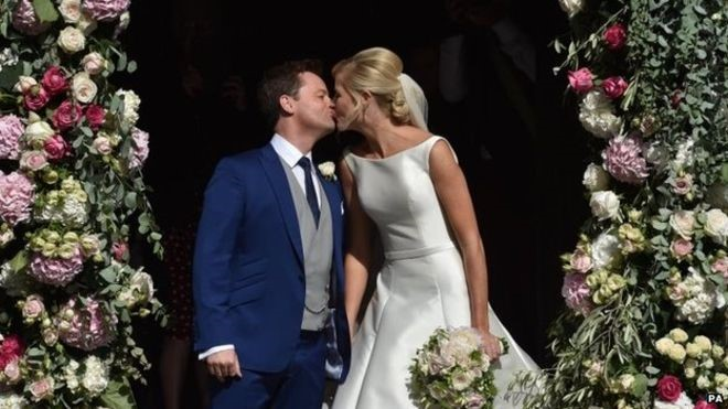 Declan Donnolly marries agent Ali Astall. Image: BBC