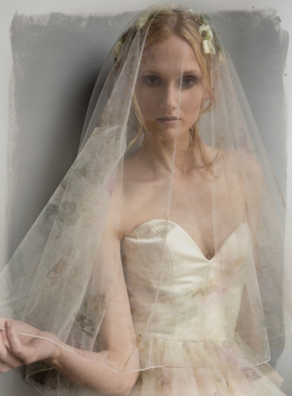 Elizabeth Fillmore Bridal Collection Spring 2015 Sheer Veil