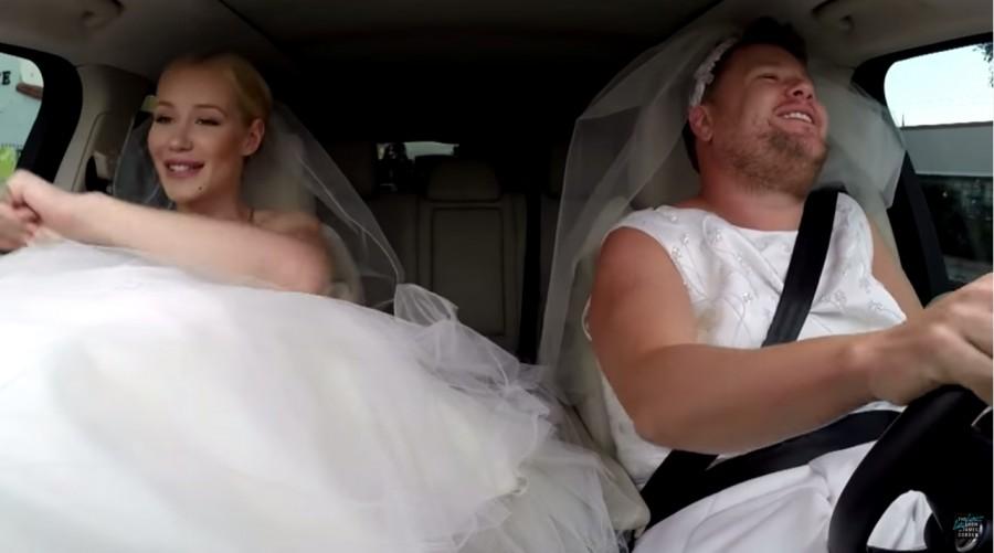 Iggy Azelea engaged. Wedding to LA Lakers Nick Young. James Cordon Late Late Show. Fancy wedding plans