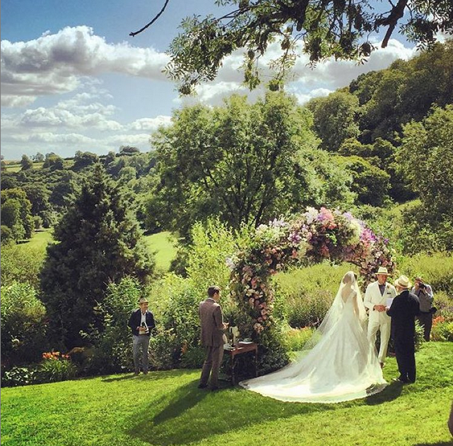 Guy Ritchie and Jacqui Ainsley wed in the English countryside. Image: @oliviadrouot via Instagram