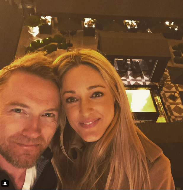 Ronan posted this selfie with his fiancee Storm, along with the caption: Not long to go until I marry this incredible Lady. So exciting. Still can't believe she said Yes !!!! #luckyman