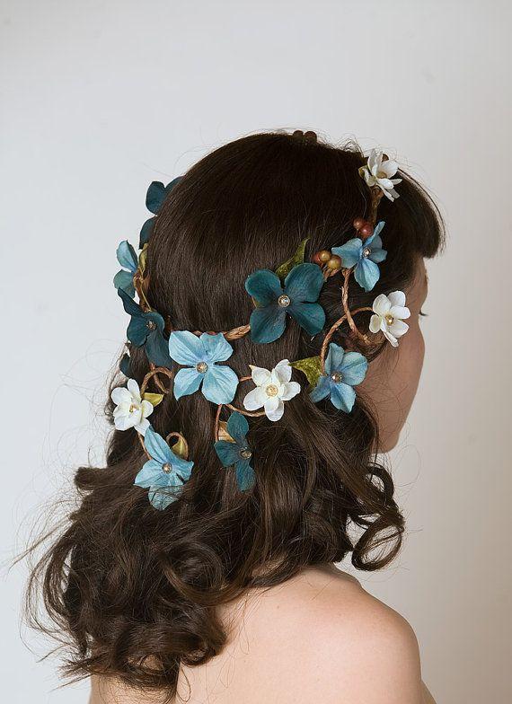 Something Blue Wedding Ideas - Head Dress Flower Crown