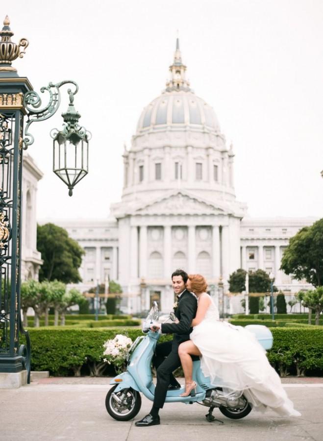 Something Blue Wedding Ideas - Scooter Vespa Honeymoon
