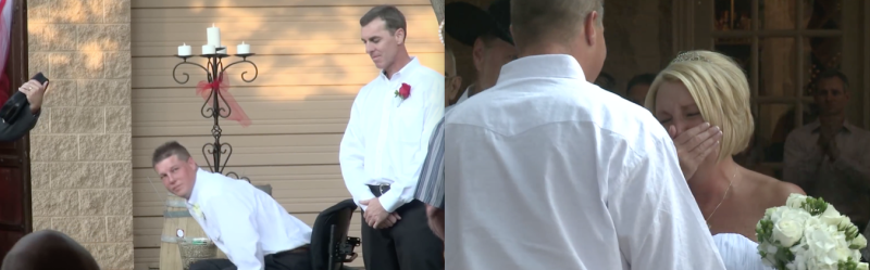 Kevin Taylor RSD Disabled Amputee Bride Wedding