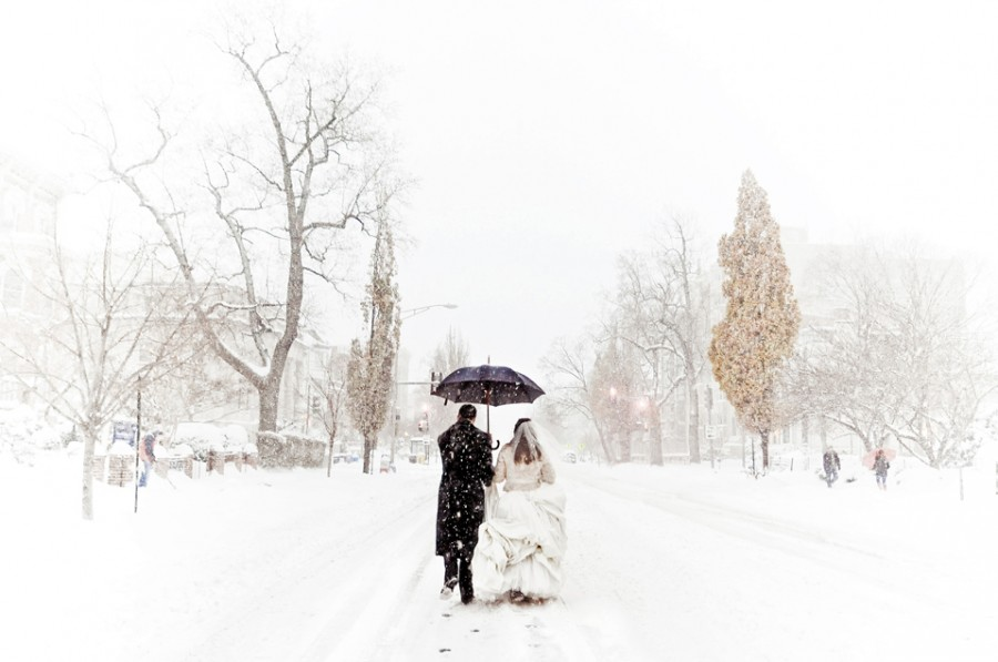 Winter wedding theme. Image: Rebekah J. Murray