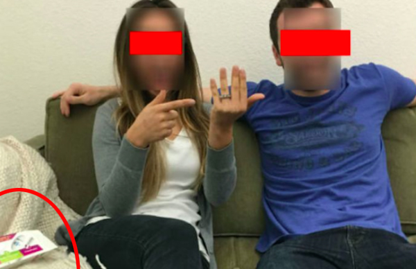 Couple announce engagement - and pregnancy by accident (2)