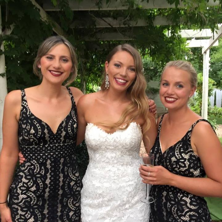 Bride Carli with her bridesmaids. Image: Carli Cehic via Facebook