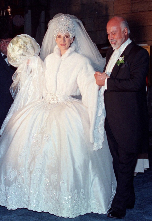 Celine and Renee on their wedding day. Image: AP Photo/The Canadian Press, Ryan Remiorz)