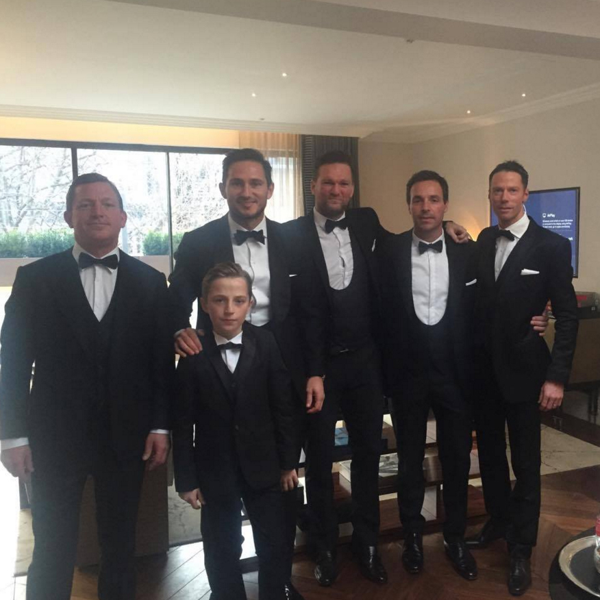 Frank shared this sweet photo of himself and his groomsmen captioning the shot 'ready to roll yesterday.' Image: Frank Lampard via Facebook