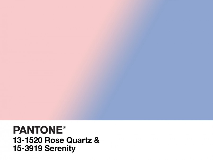 Muito Pantone's 2016 Colours of the Year: Rose Quartz and Serenity YA93