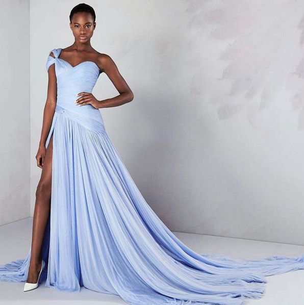 This Ralph & Russo serenity coloured gown would make a beautiful bridesmaid dress. Image: Ralph & Russo via Instagram