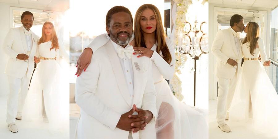 Tina Lawson wedding day