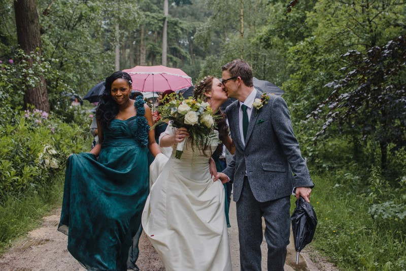 Real Woodland Weddings: Glamping In The Woods: The Wet Woodland Wedding Of Katie
